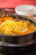 Spicy Korean soup - stock photo