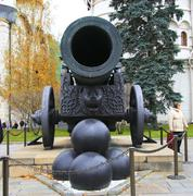 Tsar Cannon at the Kremlin in Moscow - stock photo
