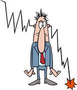 Economic crisis cartoon illustration Stock Illustration