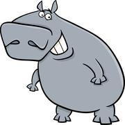 Stock Illustration of hippopotamus cartoon illustartion