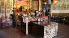 Khoo Kongsi clan house / temple in the George town, Malaysia - stock footage