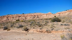 Red Rock Southwest Badlands Nevada Cathedral Gorge Stock Footage