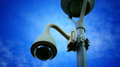 4K Video surveillance camera observing Stock Footage
