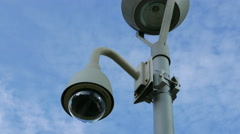 4K Video surveillance camera observing - stock footage