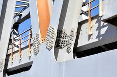 Warren Truss Type Railway Bridge - stock photo