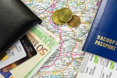 Travel kit Stock Photos
