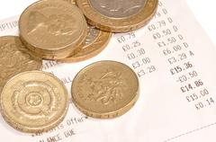 Till Receipt And Cash - stock photo