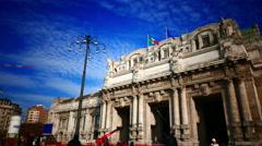 4K Garibaldi Central Train station Milan Milano Italy Stock Footage