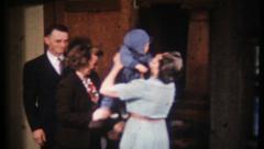 1924 - cute baby boy visits grandma - vintage film home movie Stock Footage