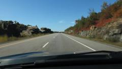 Driving north on HWY 400. Just south of Parry Sound, Ontario, Canada. Stock Footage