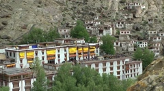 Hemis Monastary from above,Hemis,Ladakh,India Stock Footage