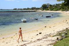 picturesque area of la Pointe aux canonniers in Mauritius - stock photo