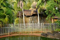 Picturesque area of la Pointe aux canonniers in Mauritius Stock Photos