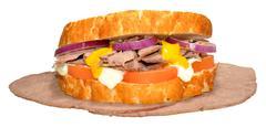 Roast Beef Sandwich - stock photo