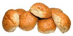 Crusty Wholemeal Bread Rolls - stock photo