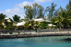Africa, picturesque area of La Pointe Aux Canonniers in Mauritiu Stock Photos