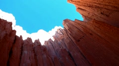 Turquoise Blue Sky Down to Red Rocks Stock Footage