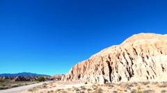 Cathedral Gorge Nevada Red Rocks Badlands Desert Landscape Stock Footage