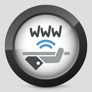 Wi-fi area icon - stock illustration