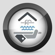 Hotel icon. Swimming Pool. - stock illustration
