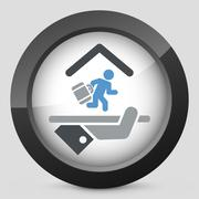 Hotel icon. Arrival/departure. - stock illustration