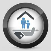 Hotel icon. Services for children. - stock illustration