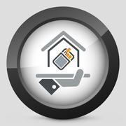 Smoking area icon Stock Illustration