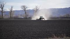 1932 - dust flies during western drought, spring planting Stock Footage
