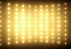 Colorful picture of yellow glimmers - stock photo