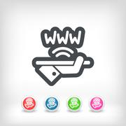 Wi-fi area icon - stock illustration