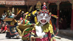 Hemis Festival 2013 Mixed Dancers,Hemis,Ladakh,India Stock Footage