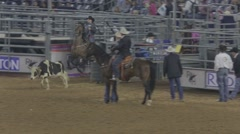 Calf-Catching Event at a Rodeo 3 Stock Footage