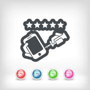 Phone assistance icon - stock illustration