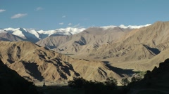Mountains seen from Hemis,Hemis,Ladakh,India Stock Footage