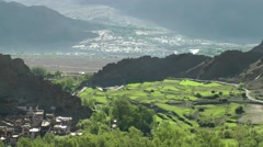 View down into the valley from Hemis,Hemis,Ladakh,India Stock Footage
