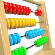 Stock Illustration of Colorful Wooden Abacus Illustration on White Background