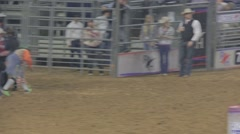 Barrel-racing Event at a Rodeo Stock Footage