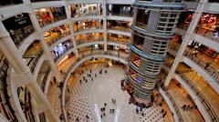 People shopping in Suria Petronas Twin Towers. Kuala Lumpur, Malaysia Stock Footage