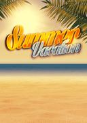 Summer paradise background - stock illustration
