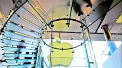 People visiting Apple Store in city center modern shop - stock footage