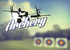 Archery poster Stock Illustration