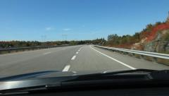 On ramp onto HWY 400 going north. Just south of Parry Sound, Ontario. Stock Footage