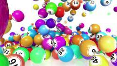 Falling bingo or lotto balls Stock Footage