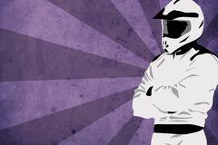 Motocross or quad background - stock illustration