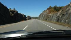 HWY 400 going north. Just south of Parry Sound, Ontario. Stock Footage