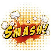 Smash - stock illustration