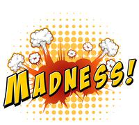 Madness - stock illustration