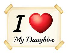 Stock Illustration of I love daughter