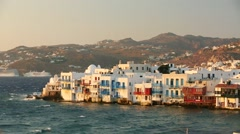 MYKONOS Houses By The Sea - stock footage