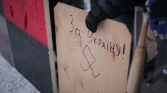 UKRAINE, KIEV Euromaidan revolution Stock Footage